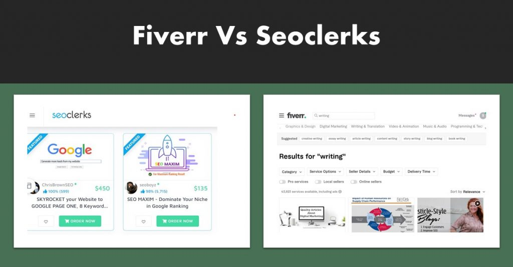 Fiverr Versus Seoclerks